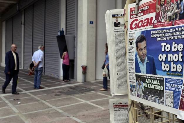 """Grèce: la proposition de référendum de Tsipras tourne surtout au risque de """"bank-run"""" - AFP"""