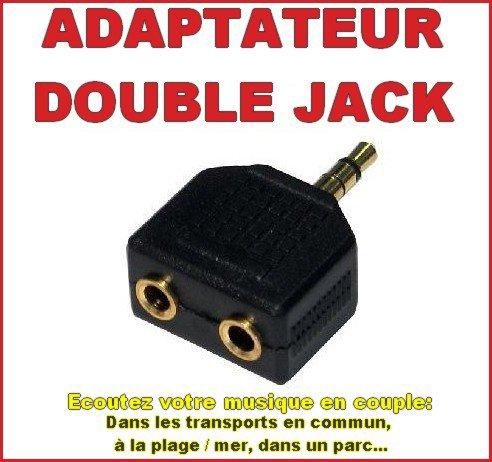 Adaptateur multiprises double jack pour les amoureux (ses) ! =10 EUROS