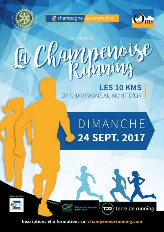Dimanche 24 Septembre 2017 : 10 km de Champagne au mont d'or