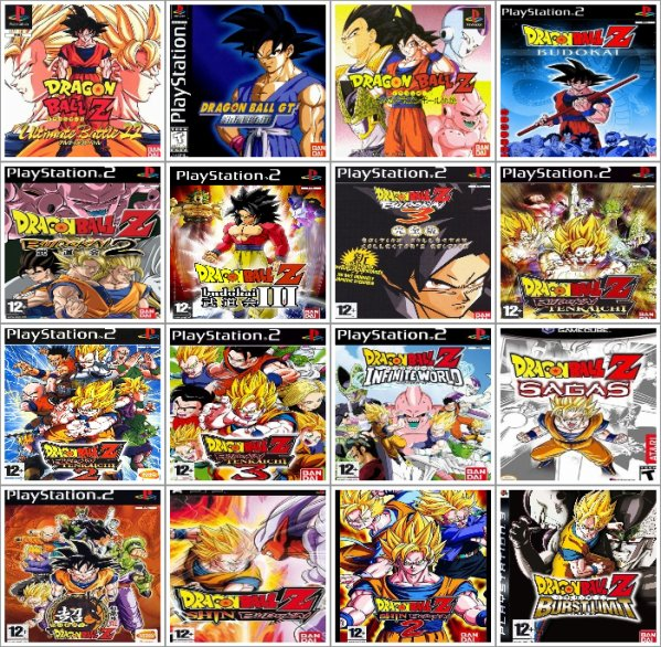 Les Dragon Ball sur Playstation