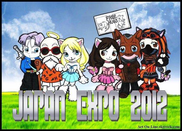 Petit groupe de Cosplayer paré pour la Japan Expo de Paris