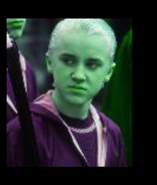 es que draco c'est déjà regarder dans une glace(article et photo de harry ron et hermione)