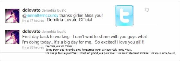 22-03-2011              Demi Lovato 7 eme voix feminine la plus belle.