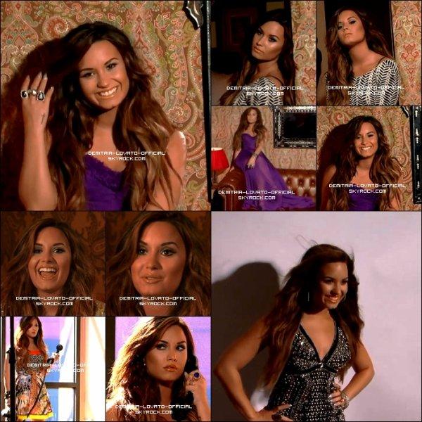 """08.11.2011:Demi a fait la couverture du magazine """" Latina """" du moi de Decembre /Janvier 2012"""