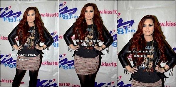 -08.12.2011: Demi a performait au Kiss 108  Jingle Ball a Lowell ,MA  _