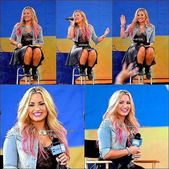 -06.07.2012: Demi a donnée un concert pour GMA Summer Concert Series a New-York,NY  -
