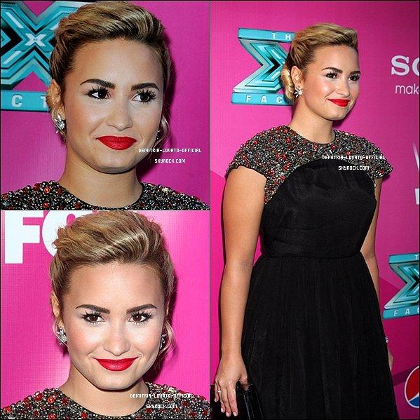 -11.09.2012 : Demi Lovato était présente a la première de X Factor à Los Angeles 11.09.2012 : Demi a fait ses empreinte au Grauman's Chinese Theatre à LA  -
