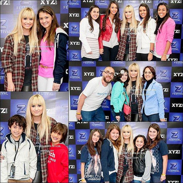 -28.09.2012  Demi a performait au Z Festival à la salle Arena Anhembi de São Paulo au Brésil -