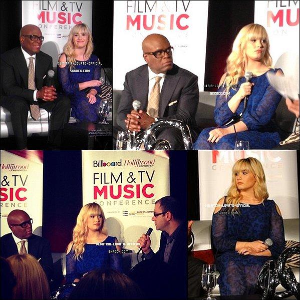 -25.10.2012 Demi & L.A Reid sont allée a la conférence de Billboard Film & TV Music à LA  -