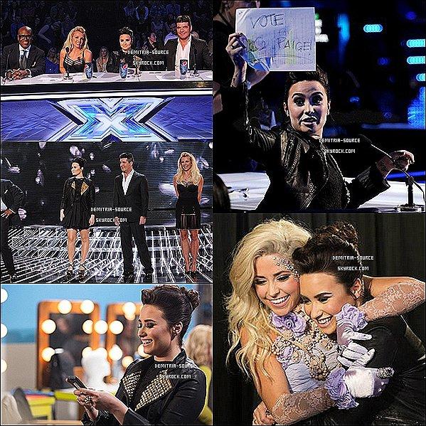 -28.11.2012 Demi était présente aux 20 et 21 épisodes de X-Factor US, a LA  Paige Thomas & Vino Allan ont étaient éliminés- Alicia Keys a performais son hit  -