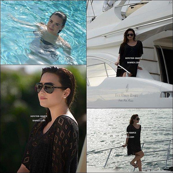 - 07.01.2013 Découvre un shoot fait pendant ses vacance au Mexique a l'Hotel Four Season 08.01.2013 Demi ses rendu au studio d'enregistrement  de Los Angeles -