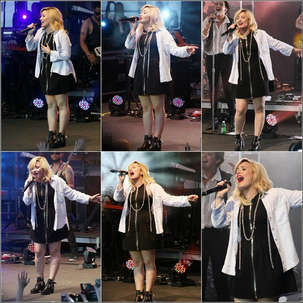 -17.07.2013 : Demetria à chantée Crazy Good Summer 2013 à Philadelphie -