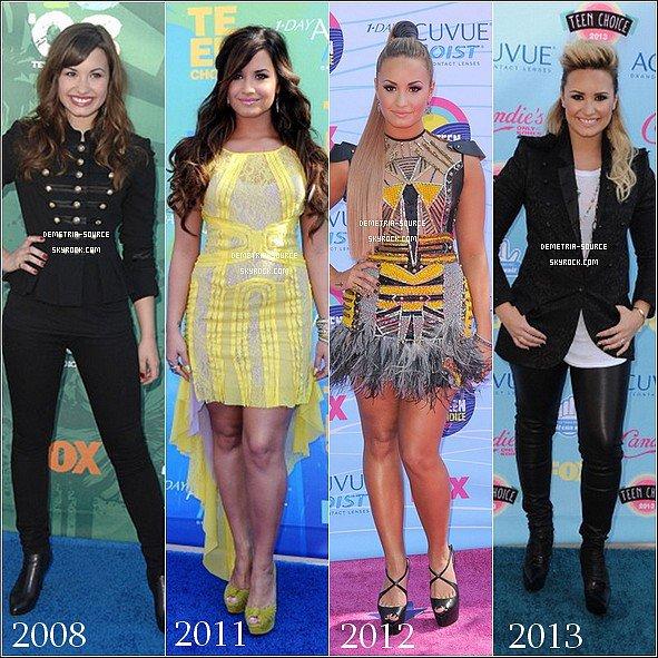-11.08.2013 : Demetria était présente au Teen Choice Awards 2013 à Los Angeles Elle a gagnée 4 awards Choice tv personality, Best Female Singer, Best Female Single & Candies Style Icon et a chanté MIT -