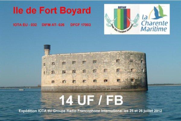Compte rendu de l'activation à Fort Boyard des 25 et 26 juillet 2012