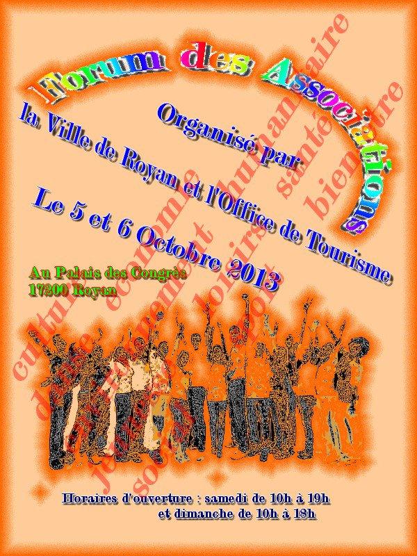 Forum des Associations les 5&6/10/2013 à Royan (avec la FFUCB/GRFI)