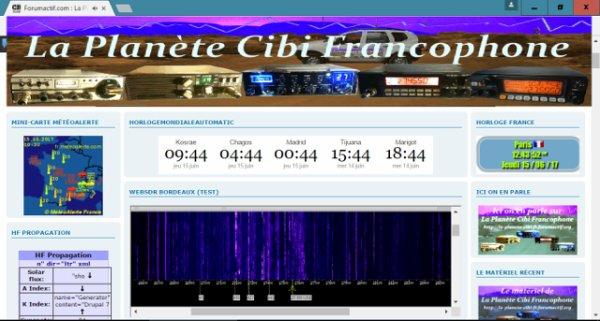 Le WebSDR et maintenant accessible directement sur le forum