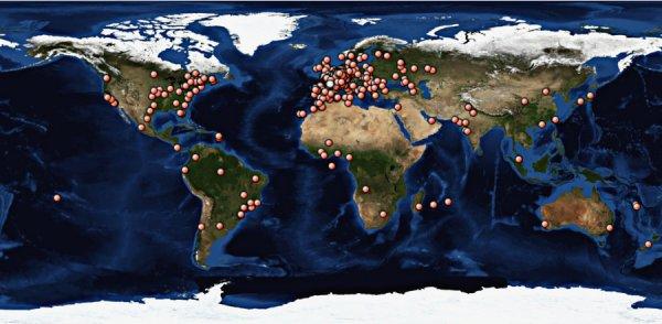 Nouveau point fait aujourd'hui à 14H00 sur la visibilité du forum 'La Planète Cibi Francophone' à travers le monde.