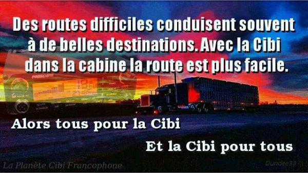 Des routes difficiles conduisent souvent à de belles destinations. Avec la Cibi dans la cabine la route est plus facile.