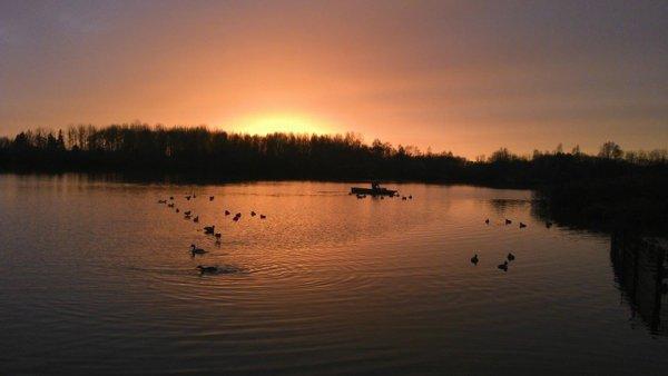 magnifique coucher du soleil !!