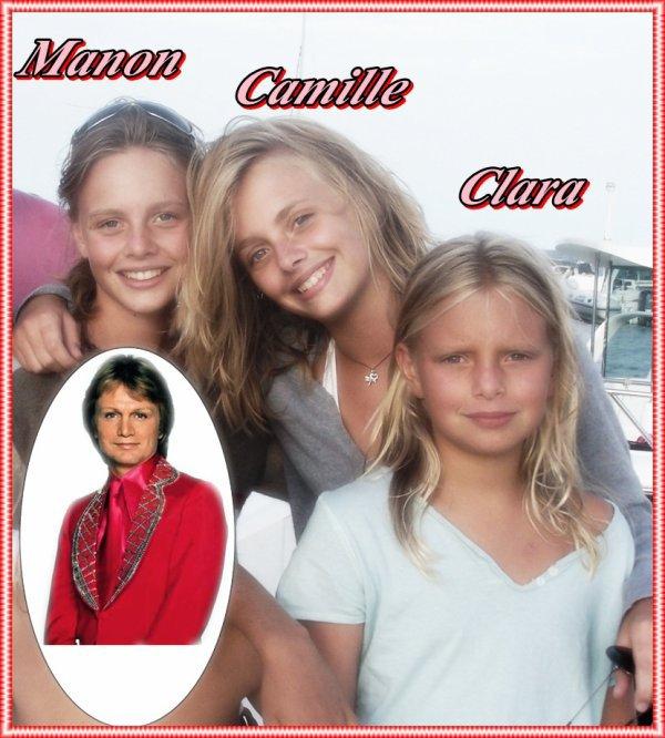 Ses petites filles (filles de son fils ainé Claude Francois junior: dit Coco)
