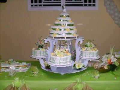 Gâteau mariage en forme de ptale
