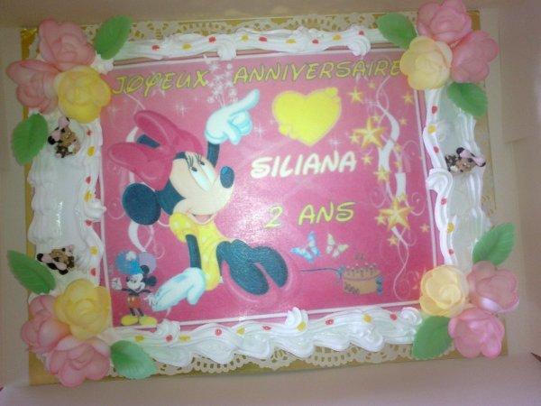 Gâteau anniversaire thème Minnie