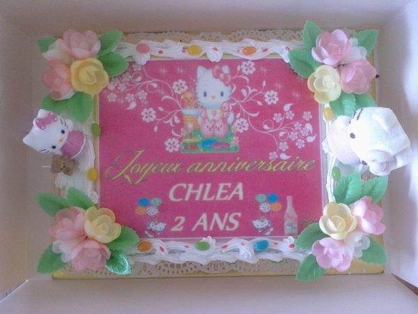 Gâteau anniversaire thème Hello k.