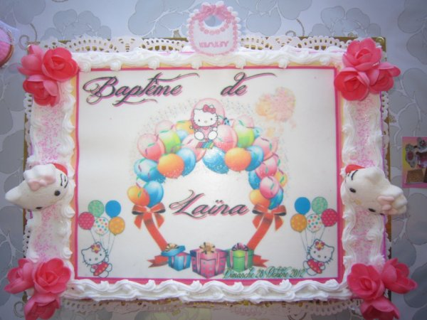 GATEAU ANNIVERSAIRE THEME HELLO KITTY