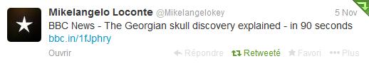 Tweet de Mikele sur Twitter