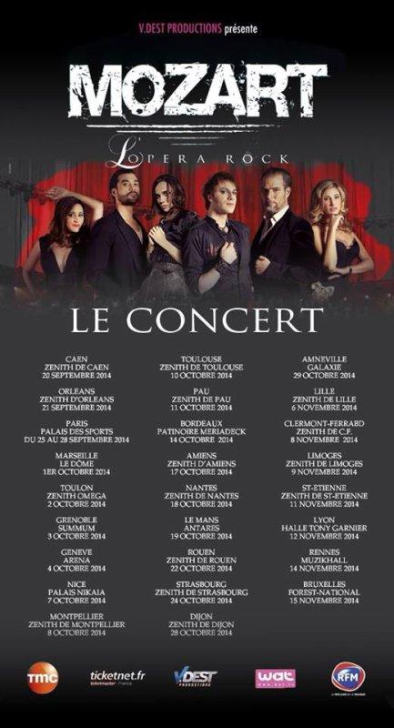 Mozart l'Opéra Rock le concert