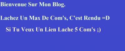 5 Com's MINIMUM  ;)  ( Accepte Les Chiffre )