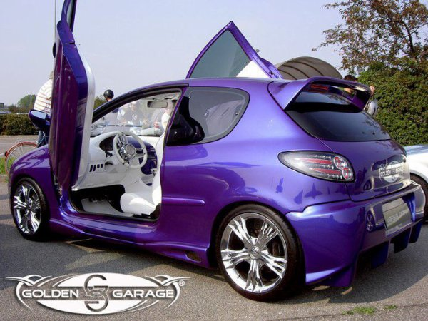 une superbe peugeot 206 violette tuning mag 007. Black Bedroom Furniture Sets. Home Design Ideas