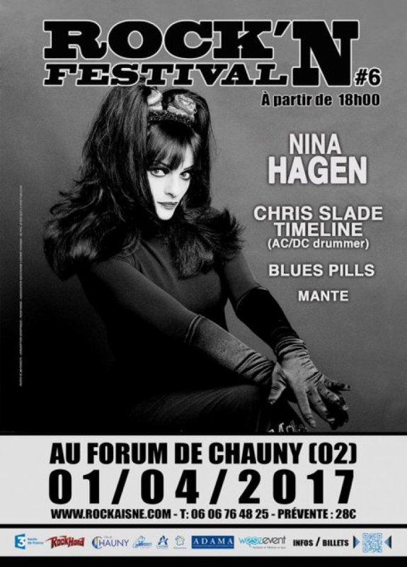 Chris Slade & Nina Haegen, 1 avr 2017, Forum de Chauny