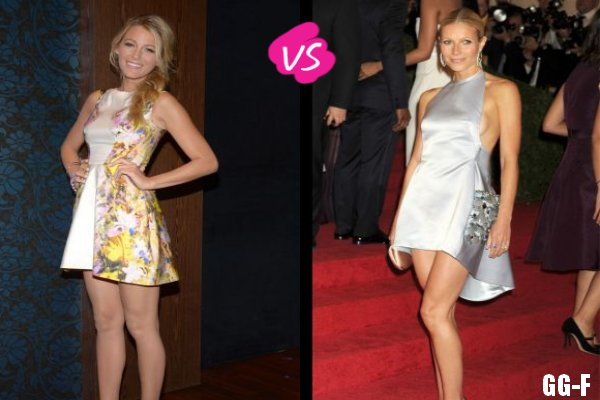 BLAKE LIVELY VS GWYNETH PALTROW : LA MINIROBE ASYMÉTRIQUE