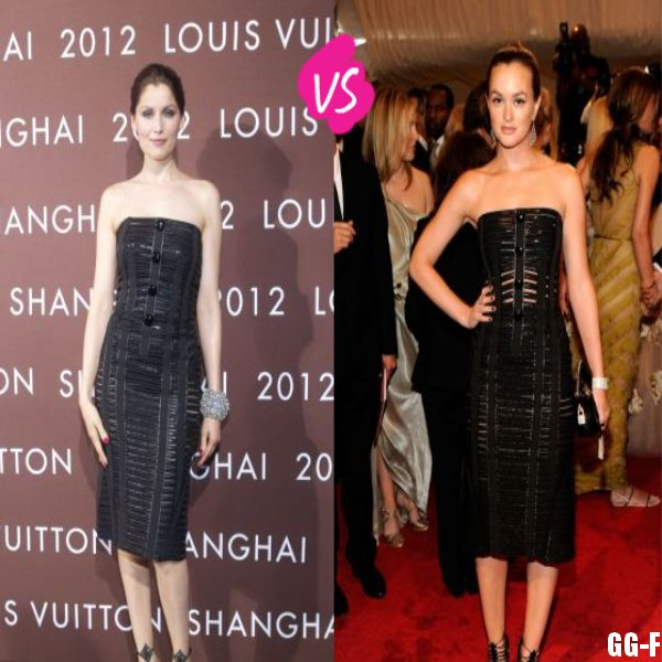 LAETITIA CASTA VS LEIGHTON MEESTER : LA ROBE CAGE LOUIS VUITTON