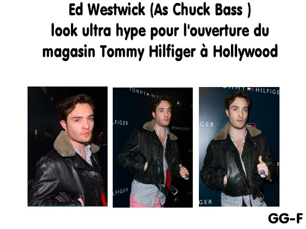 Ed Westwick as Chuck de Gossip Girl : Look coloré à l'ouverture du Tommy Hilfiger de Hollywood