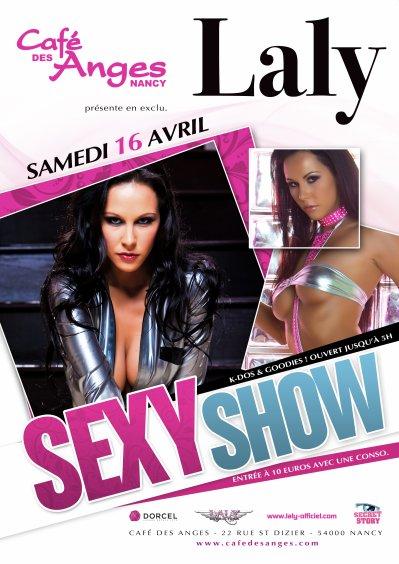 Laly en Show Sexy le 16 avril 2011 au Café des Anges à Nancy (54) !!!!