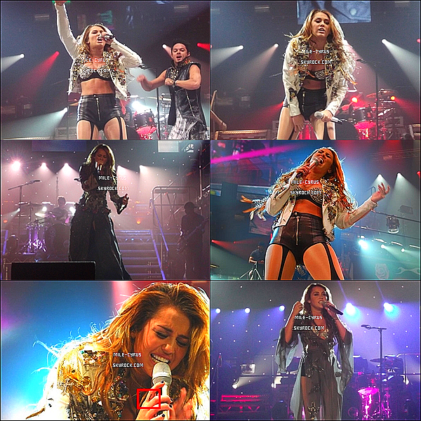 .  02JUILLET2011__ Miley Ray Cyrus donnant une performance à Perth avec son Gypsy Heart Tour en Australie.