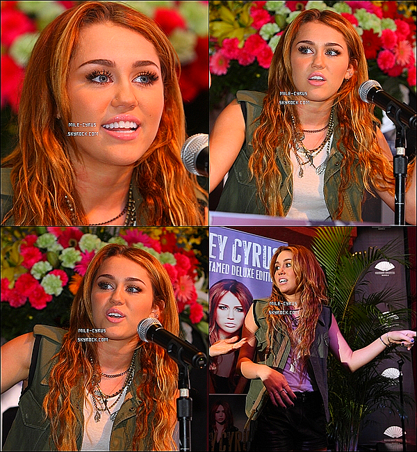 .  16JUIN2011_-__ MileyC faisait une conférence de presse pour le Gypsy Heart Tour à Makati City aux Philippines J'ai que quatre photos qui sont de HQ pour le moment, et Mile était présente ce matin à une émission de télé, c'est par ici pour regarder. .