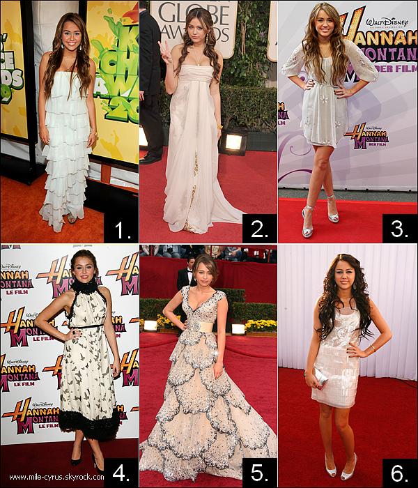 .  Quelle robe blanche de M. façon « Sage Sainte Vierge » tu préfères et détestes le plus? .
