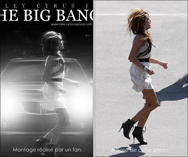 . Toutes les informations à savoir sur la chanson et le clip de « The Big Bang » ! . Souvenez vous le 9 juin avait lieu tournage de ce sois-disant clip dont tout le monde se demandait d'où venait cette chanson. Le mystère s'éclaircit peu à peu et l'on apprend que la chanson n'est pas de Miley mais enfait du groupe 'Rock Mafia' on a même cru un moment, à la vue de l'extrait du clip que ça serait un court métrage mais non. Miley apparait juste dans le clip avec l'acteur de « Gossip Girl » Kevin Zegers. Le clip sera diffusé le 1er novembre, d'ailleurs un fan à réussi à imaginé la pochette du single.  .