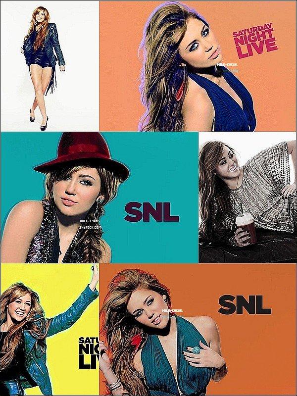 .  .  Miley joue la petite rigolotte en imitant les stars dans  « Saturday Night Live »!  .  Le 5 mars, Miley a présenté la très célèbre émission humoristique « Saturday Night Live » où elle a fait plusieurs sketchs. Elle a imitié Justin Bieber, Vanessa Hudgens dans « Beastly » et Lindsay Lohan. Découvrez ci-dessous le très beau flashy shoot qu'elle a réalisé pour les besoins de l'émission. De nombreux amis de la stars dont  le producteur de « The Last Song » : Adam Shankman, le producteur de « SNL » : Lorne Michaels, la coach de « America's Next Top Model » : Miss J, et tous les membres du groupe The Strokes étaient présents pour la soutenir. La présence de Miley a créer l'évenement vu que ça été la deuxième émission de « SNL » la plus regardé! Sur twitter, même  Hayley Williams de Paramore ou Emma Roberts n'ont pas hésité à complimenter sa performance. Miley a même parler ouvertement de ses scandales dont celui de la salvia. Découvrez la ..:  .   Première partie - Deuxième partie - Troisième partie - L'intégral de l'émission.  .  .