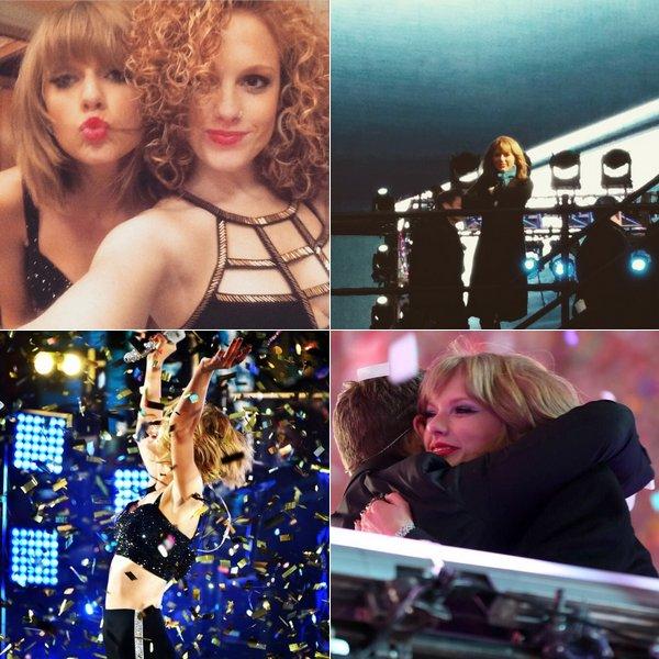 31 Décembre 2014 : Taylor a chanté 2 de ses chansons à Times Square, New York.