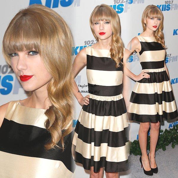 1er Décembre : Taylor était au KIIS FM's 2012 Jingle Ball, à Los Angeles. Découvrez les photos du tapis rouge et de sa performance !