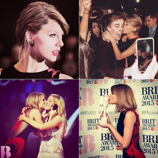Taylor a posté ces photos des Brit Awards sur Twitter