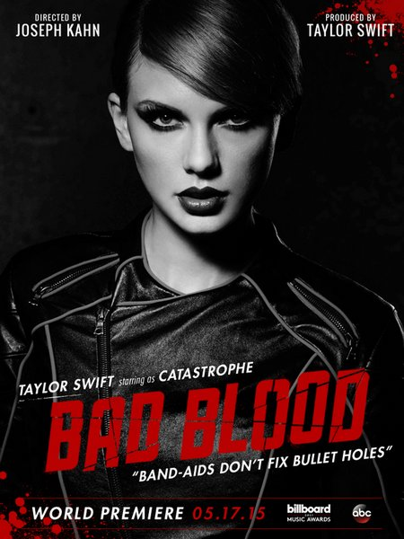"Photos persos  + photos promotionnelles de son prochain clip ""Bad Blood"" + le clip !"