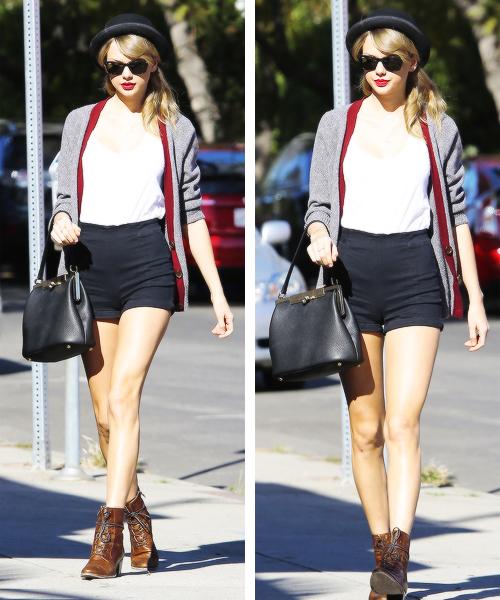 16 Janvier : Taylor a été reperée dans les rues de Los Angeles
