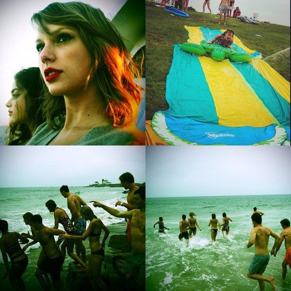 Plusieurs photos Twitter sont apparues, datant du 04 Juillet et des derniers jours. On retrouve de nombreux amis de Taylor dont Emma Stone et Jaime King.