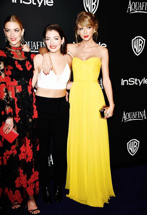11 Janvier 2015 : Taylor s'est rendue à trois Golden Globes after-parties qui se sont déroulées en différents lieux de Los Angeles.