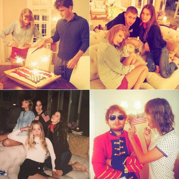 Taylor célébrant la fête nationale américaine avec ses amis :)